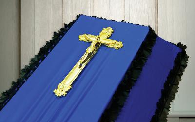 Крест на гроб пластмассовый «Французский большой»