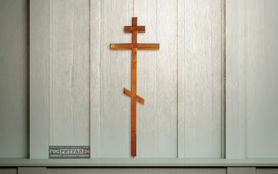 Крест лакированный «Сосна брус (100х100)» (260 см)