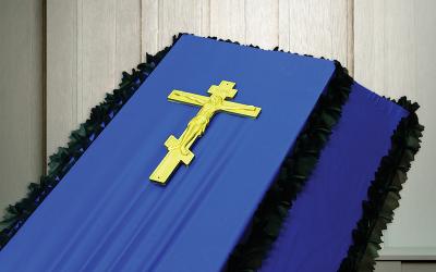 Крест на гроб пластмассовый «Средний»