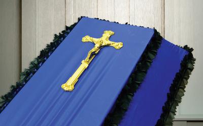 Крест на гроб пластмассовый ажурный «Французский»