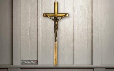 Крест на гроб «Католический бронза»