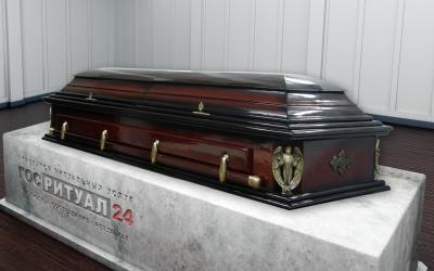 Гроб «Двухкрышечный ангел»