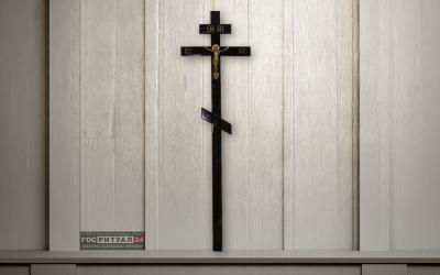 Крест лакированный «Классика сосна с распятием» (210 см)