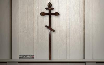 Крест лакированный «Сосна Фигурный» (220см)