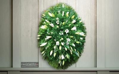 Венок «Лилия» с живыми цветами (1,6м)